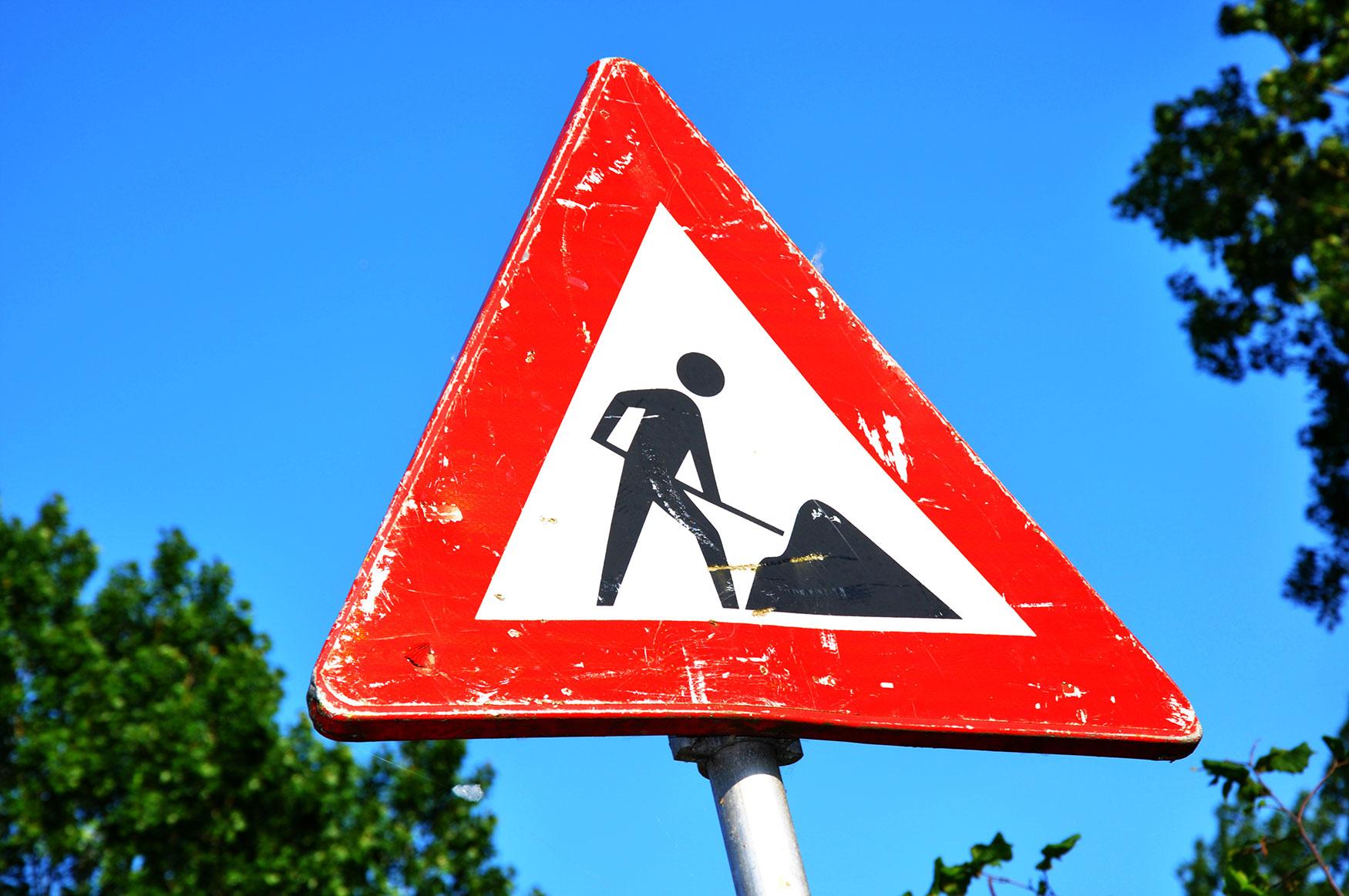 301 redirect detour sign