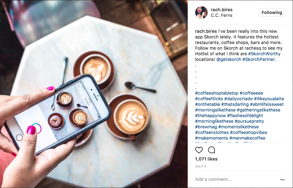 Instagram Influencer Example