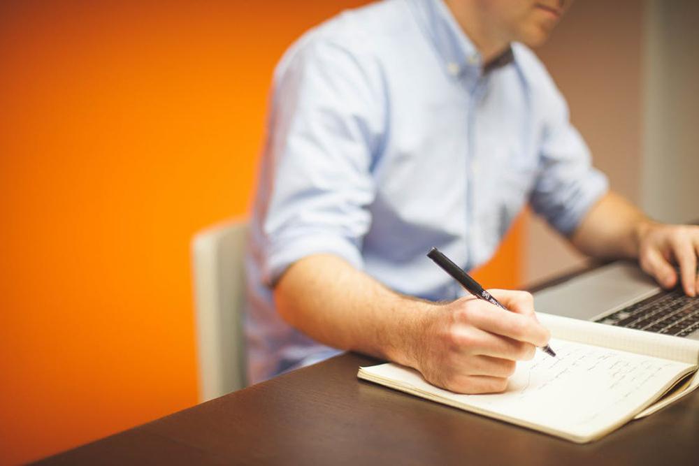 salesperson at a desk