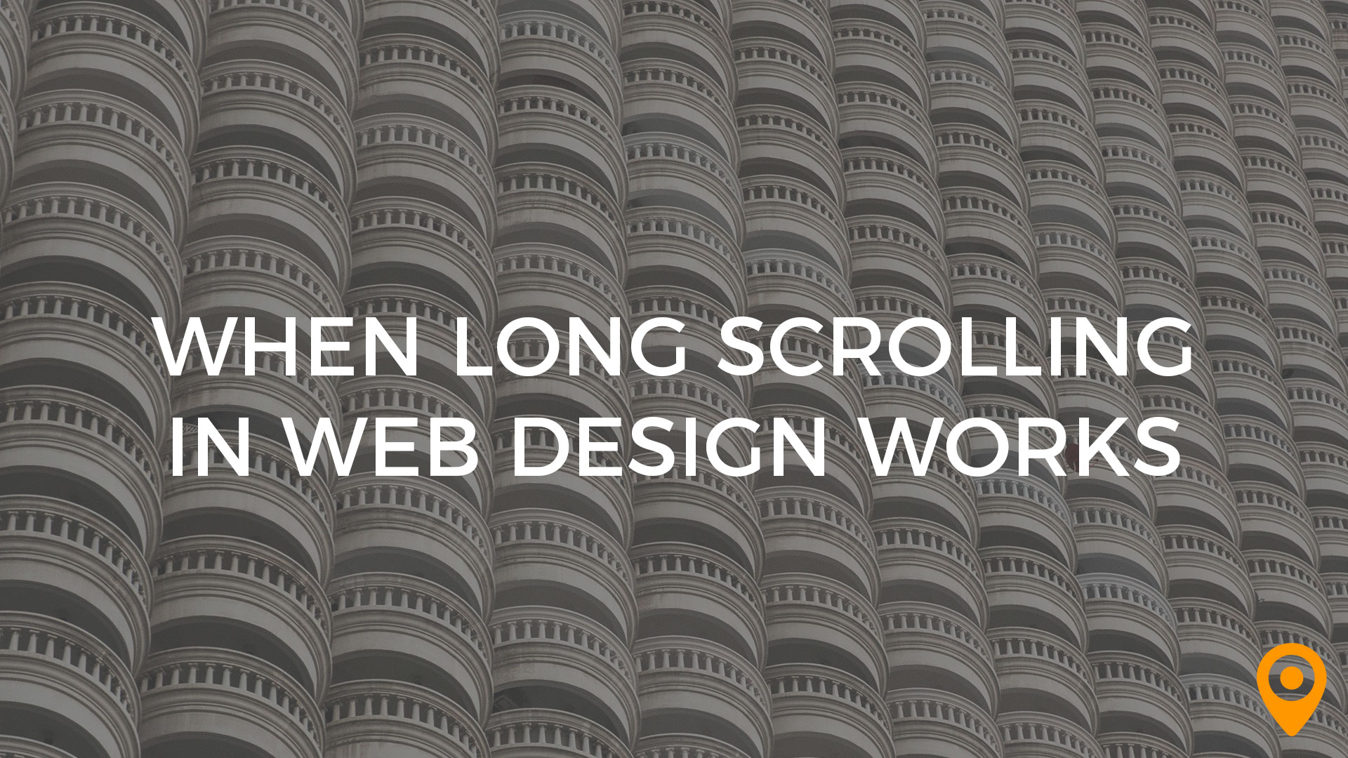 long scrolling web design