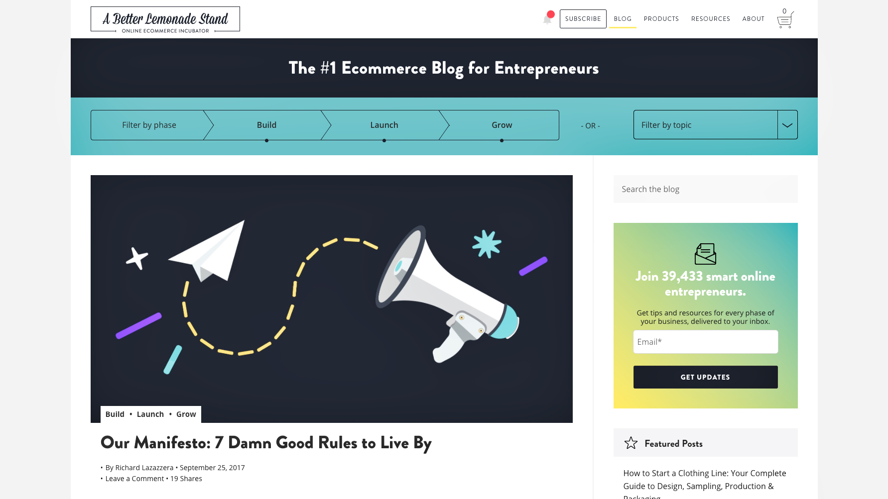 The Top 25 E-Commerce Blogs | UpCity