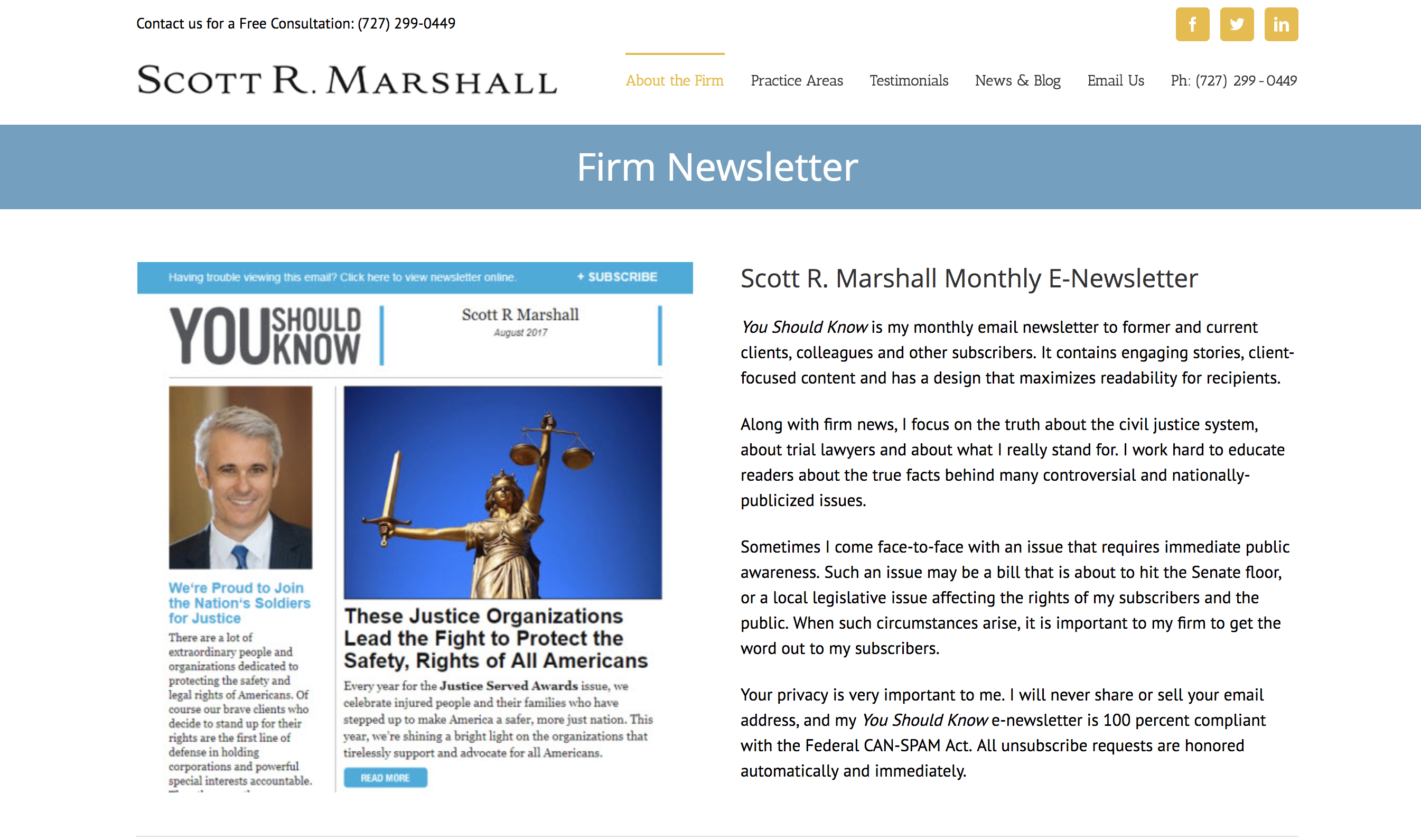 Legal Newsletter Example