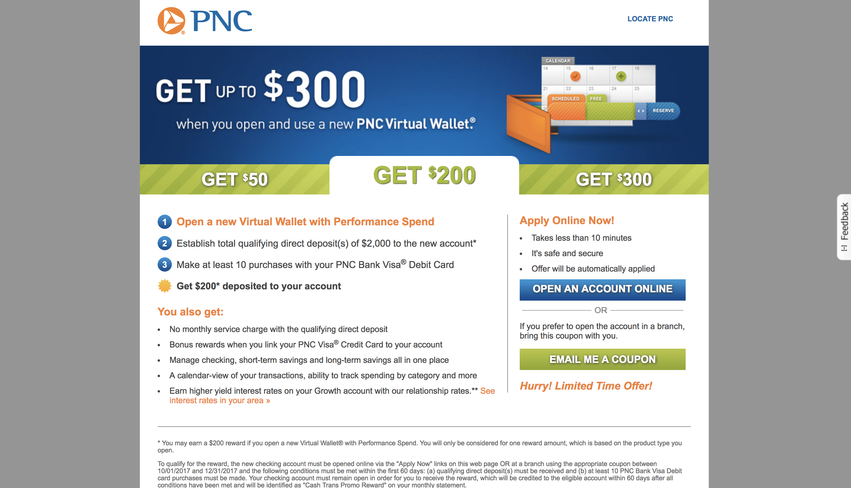 PNC bank screenshot