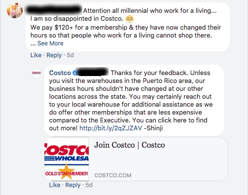 Costco example