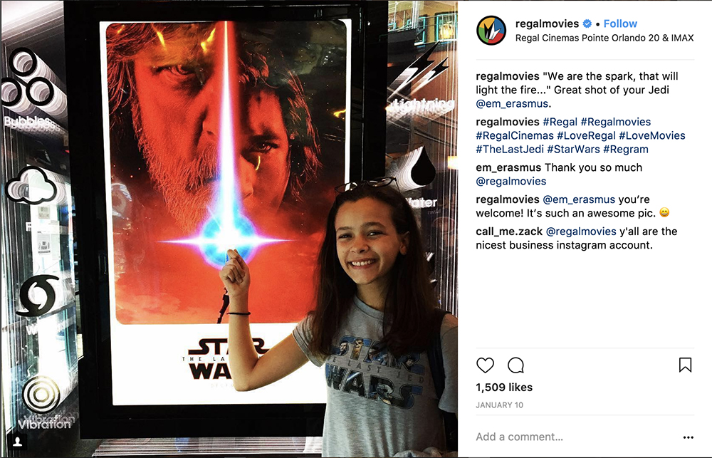 Regal Cinemas Instagram