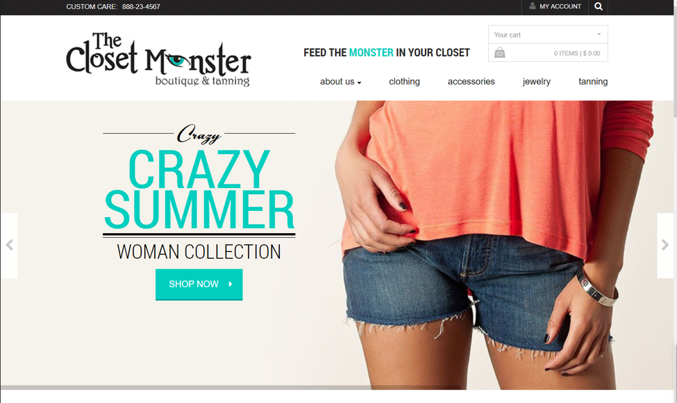 website closet monster