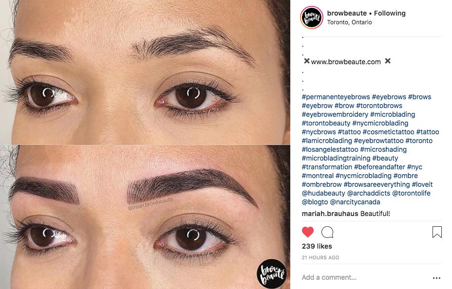 browbeaute instagram example