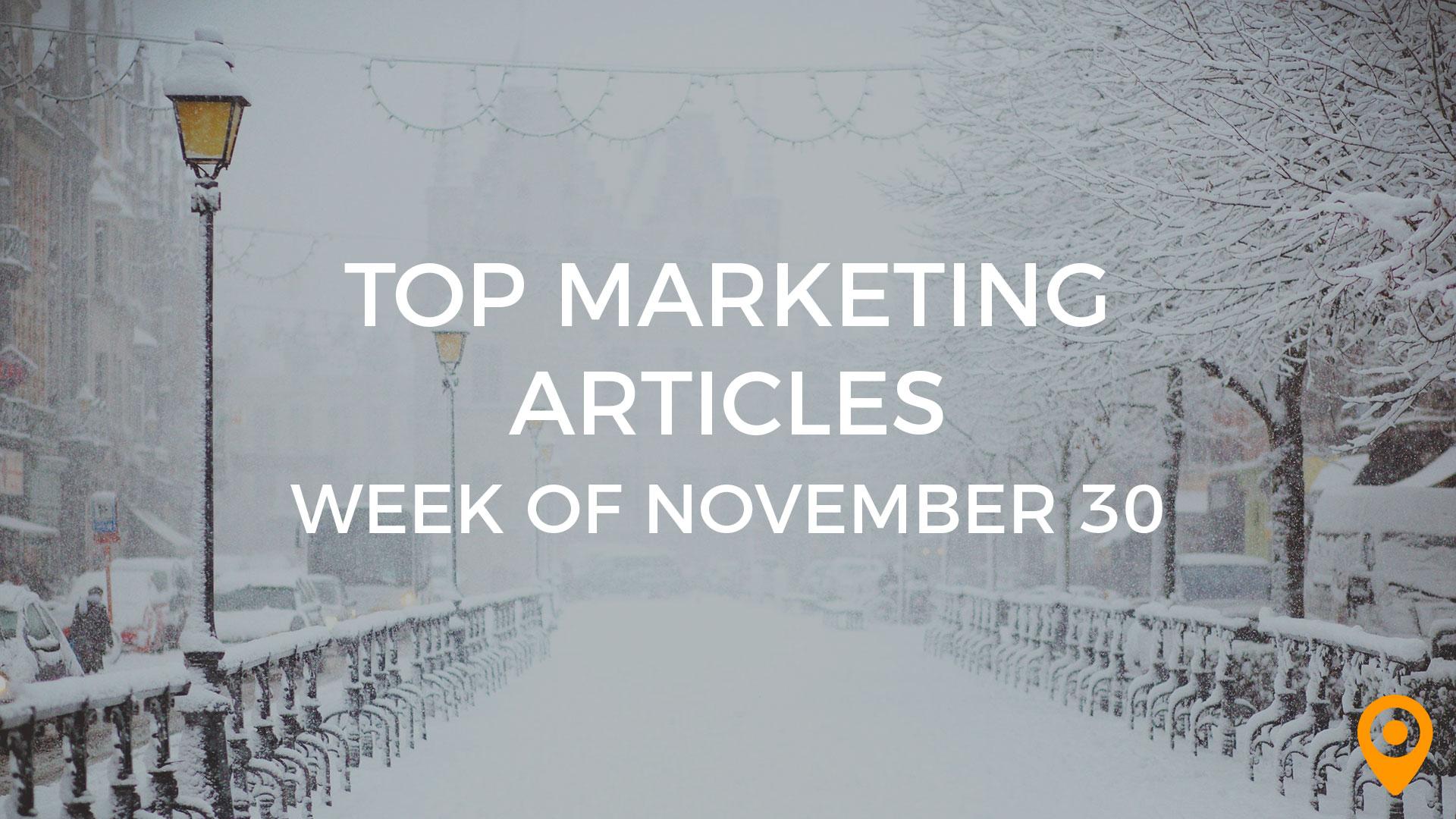 Top Marketing Articles-Nov 30