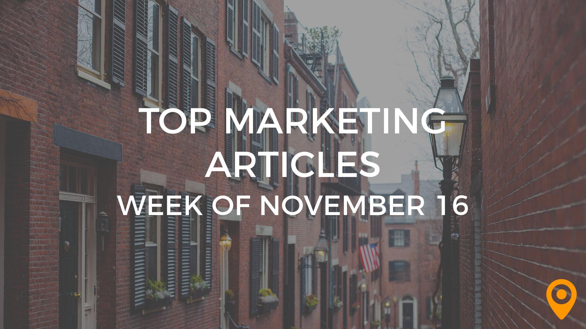 Top Marketing Articles: Week of Nov 16