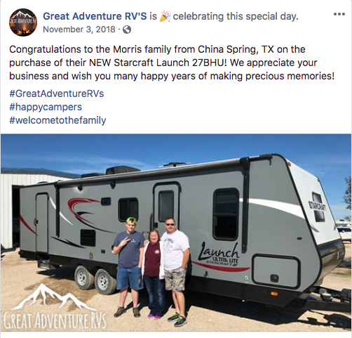 RV Social Post Example