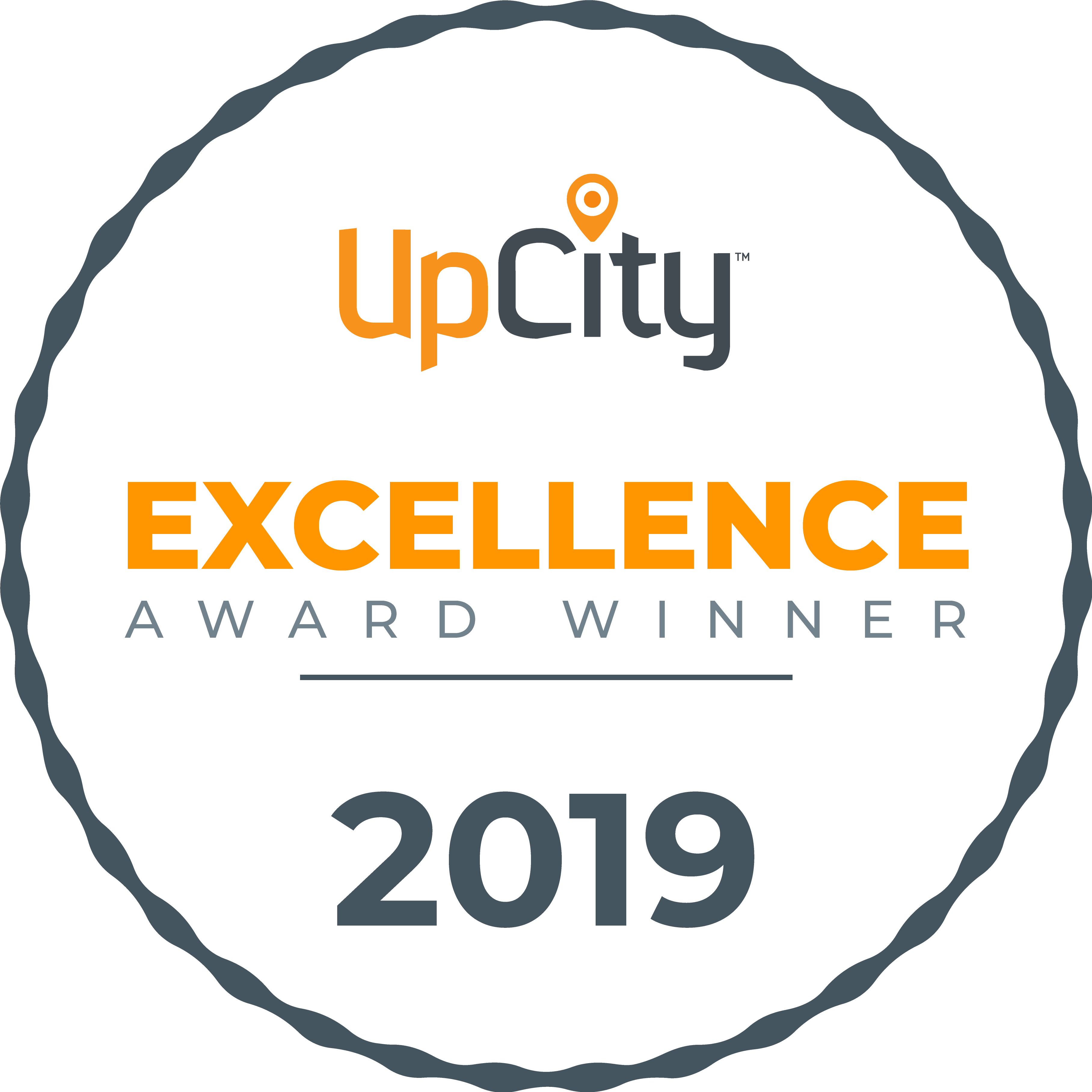 UpCity Excellence Awards Badge