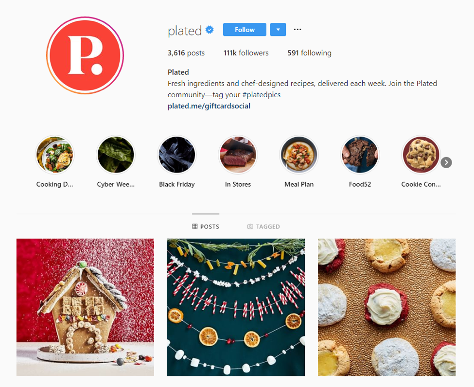 plated instagram example